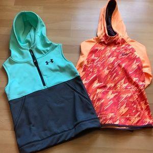 Under Armor Vest and Nike Hoodie Bundle.